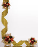 Christmas Corner design ribbons Royalty Free Stock Image