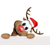 Christmas corner reindeer Royalty Free Stock Photography