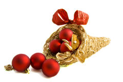 Christmas cornucopia Royalty Free Stock Image