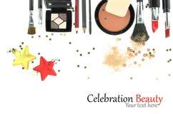 Christmas cosmetics royalty free stock photos