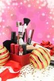 Christmas cosmetics Stock Photos
