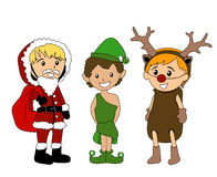 Christmas Costumes Stock Photography
