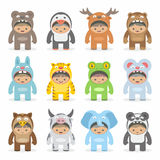 Christmas costumes kids Royalty Free Stock Photo