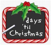 christmas countdown Стоковые Изображения RF