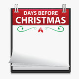 Christmas Countdown Calendar Royalty Free Stock Image
