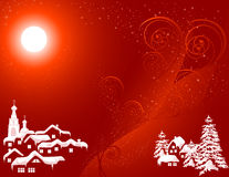 Christmas_country_red_color Stock Photo