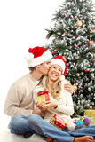 Christmas couple royalty free stock photography