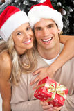Christmas couple stock image
