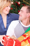 Christmas couple Stock Images