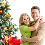 Christmas couple Stock Photo