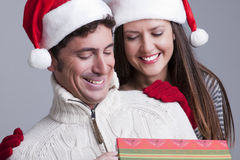 Christmas Couple Stock Photography