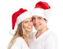 Christmas couple Stock Photo
