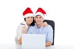 Christmas couple Royalty Free Stock Photography