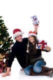 Christmas couple Stock Photos