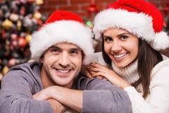 Christmas couple. Royalty Free Stock Photo