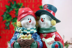 Christmas Couple CloseUp Stock Photos