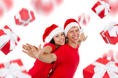 Christmas couple creative disign Royalty Free Stock Images
