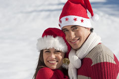 Christmas couple in love Royalty Free Stock Image