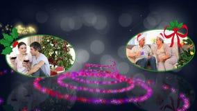 Christmas couples animation stock footage