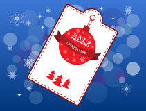 Christmas cover with white emblem and price Royalty Free Stock Photography