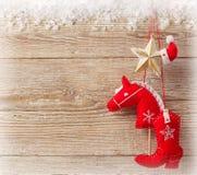 Christmas cowboy background Stock Photo
