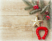 Christmas cowboy background Stock Photo