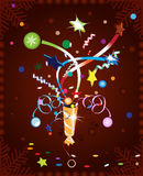 Christmas cracker. Explosion. Stock  illustration Royalty Free Stock Images
