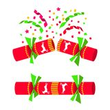 Christmas cracker isolated in white background Royalty Free Stock Photo