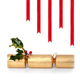 Christmas Cracker and Ribbons Royalty Free Stock Image