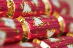 Christmas crackers Stock Photography