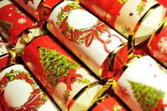Christmas crackers stock photos
