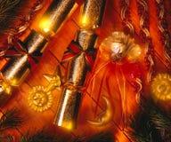 Christmas Crackers stock image