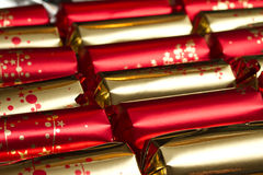 Christmas crackers. Or party favors Stock Photos