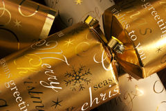 Christmas Crackers. Close up of Christmas crackers Stock Photography