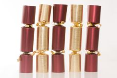 Christmas crackers Royalty Free Stock Images