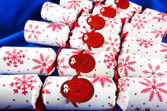 Christmas crackers Stock Images