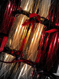 Christmas crackers close up Royalty Free Stock Images