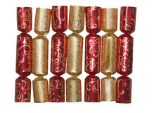 Christmas crackers isolated on white Stock Images