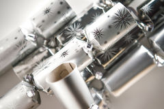 Christmas crackers shot in the studio Royalty Free Stock Photography