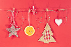 Christmas craft items Royalty Free Stock Images