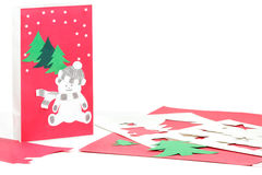 Christmas craft in progress Royalty Free Stock Photography