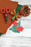 Christmas Craft Supplies Royalty Free Stock Photo