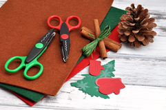 Christmas Craft Supplies Stock Photo