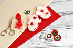 Christmas Craft Supplies Royalty Free Stock Images