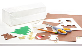 Christmas crafts homemade bags Stock Images