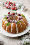 Christmas Cranberry Cake Royalty Free Stock Photos