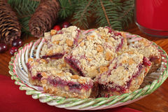 Christmas Cranberry and Peanut Butter Bars Stock Image
