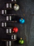 Christmas crankshaft Stock Images