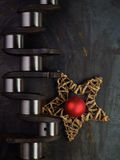Christmas crankshaft Stock Image