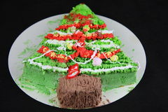 Christmas cream cake Stock Image